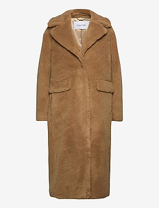 TEDDY COAT - faux fur - countryside khaki