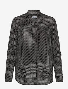 LIGHT CDC BLOUSE - long sleeved blouses - monogram / black / white smoke