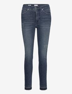HIGH RISE SKINNY ANKLE - jeans slim - dark blue