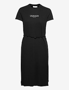 SS LOGO T-SHIRT DRESS - zomerjurken - ck black