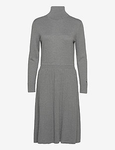 FLARE DRESS - midi kjoler - mid grey heather