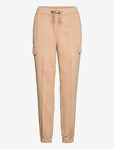 TENCEL ANKLE DETAIL CARGO PANT - casual trousers - travertine