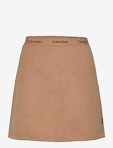 WOOL MINI SKIRT - short skirts - soft camel