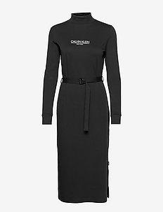 NEW YORK ESSENTIAL JERSEY DRESS - kesämekot - ck black