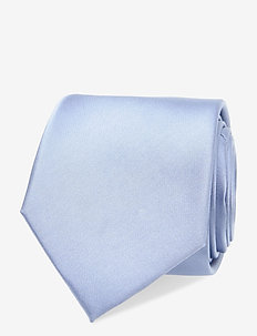 SATIN SOLID TIE - ties - light blue