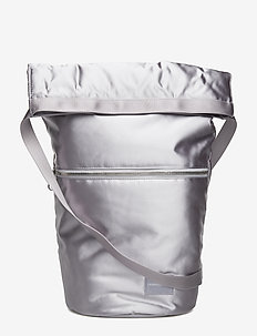 SATIN ROLL TOP HOBO - SOFT SILVER