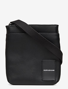 COATED CANVAS MICRO FLAT PACK - shoulder bags - black