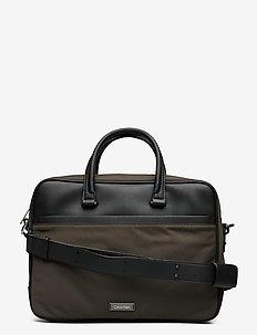 ADAM NYLON LAPTOP BAG EXTRA - tietokonelaukut - black olive