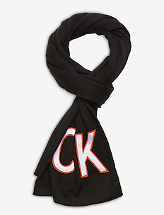 J CK TOWELLING SCARF - scarves - black beauty