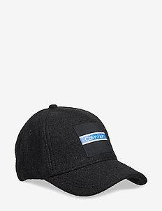 BOILED WOOL CAP - BLACK