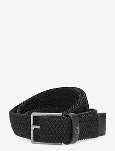 FORMAL ELASTIC BELT 3.5CM - braided belts - black