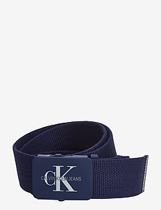 J 4CM ADJ.MONOGRAM C - belts - navy