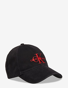 J MONOGRAM CAP M - BLACK BEAUTY+RED EMBR.