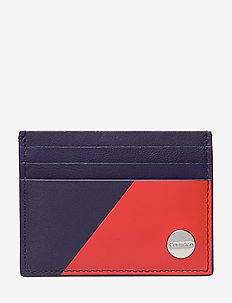 SLICED CARHOLDER - TANGERINE/BLUE