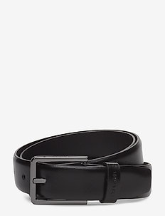3CM BOMBED BELT - BLACK