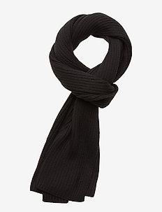 BASIC RIB SCARF - sjaals - black