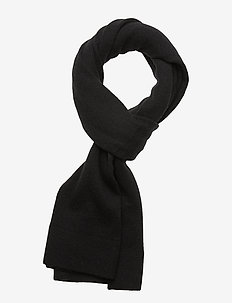 BOILED WOOL SCARF - huivit - black