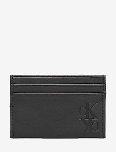 MIRROR MONOGRAM CARD CASE - klassiches portemonnaie - black