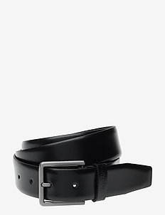 3.5CM ADJ.BOMBED BELT - BLACK