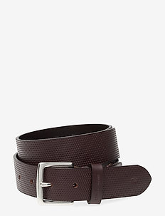 J ADJUSTABLE LEATHER BELT 3.5CM - klassisch - bitter brown