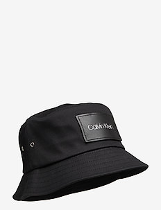 LEATHER PATCH BUCKET - CK BLACK