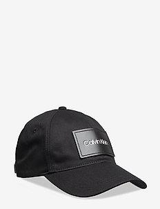 LEATHER PATCH BB CAP - caps - ck black