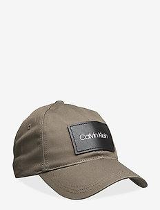 LEATHER PATCH BB CAP - caps - dark olive