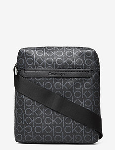 CK MONO MINI REPORTE - torby na ramię - black mono
