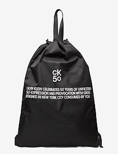 CKJ 50 DRAWSTRING GYM BAG - BLACK
