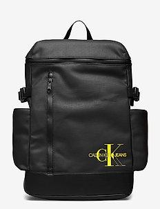 CKJ COATED COTTON ZIP AROU BP45 - plecaki - black