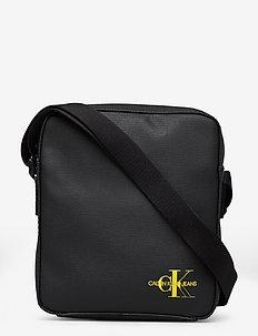 CKJ COATED COTTON MI - shoulder bags - black