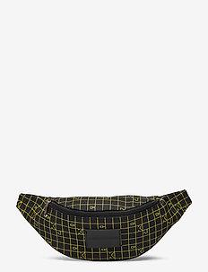 CKJ SPORT ESSENTIALS STREETPK GR - bum bags - black w/ grid print