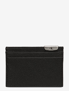 CKJ MICRO PEBBLE CARDCASE - BLACK