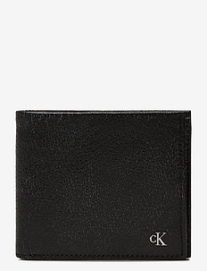 CKJ MONOGRAM TEXTURE - wallets - black