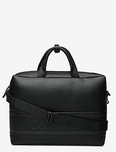 STRIPED LOGO PU LAPT - laptop bags - ck black
