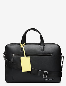 CK QT POCKET  LAPTOP BAG - laptoptassen - black