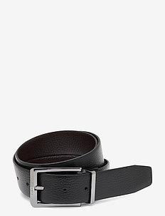 35MM ADJ/REV SKIVED BUCKLE - belts - black / dark brown