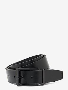 35MM ADJ/REV SKIVED BUCKLE MONO - belts - black / mono
