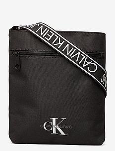 FLATPACK W/PCKT - torby na ramię - black