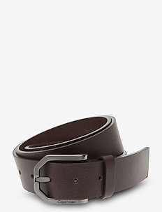 ESSENTIAL PLUS FACETED PB 35MM - riemen - dark brown