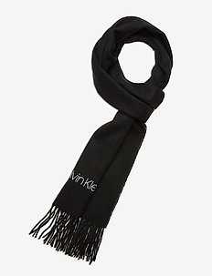 WOVEN SCARF 35X180CM - scarves - black
