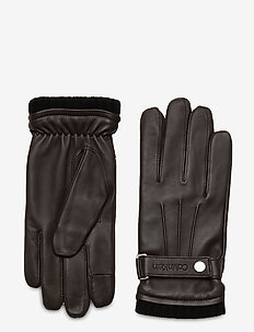 GLOVES W/SNAP - gants - dark brown