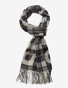SCARF WL/ACR TARTAN - scarves - grey
