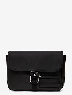 WAISTBAG W/FLAP - shoulder bags - black