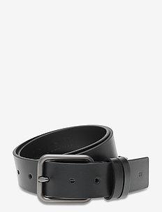 SQUARE SM LTH 35MM - belts - black