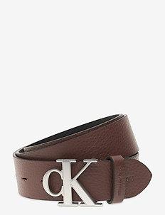 LOGO TEXT LTH 35MM - belts - bitter brown