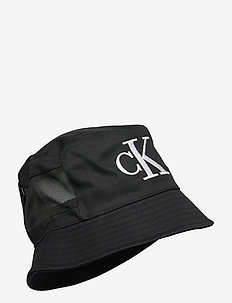 MESH MONO BUCKET - bucket hats - black