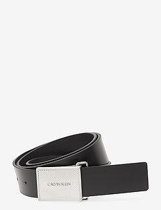PIQUE METAL PLAQUE 35MM - ceintures classiques - ck black
