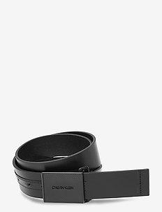 PIQUE METAL PLAQUE TONAL 35MM - ceintures classiques - ck black