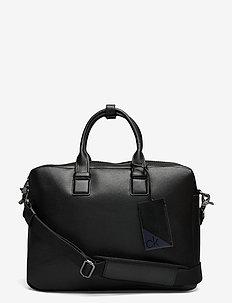 LAPTOP BAG W/ PCKT - laptop bags - ck black